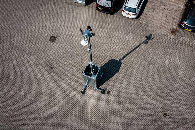 Picseecam parkeerplaats beveiliging