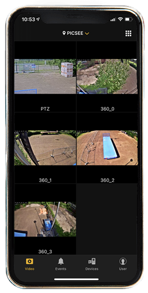 Picsee security cam mobile app
